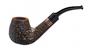 John Aylesbury The Pipe Smoker's Beginner Set mit gebogener Pfeife, rustiziert