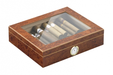 Humidor-Set London wurzelholz