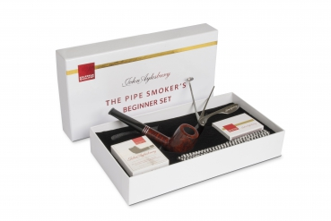 John Aylesbury The Pipe Smoker's Beginner Set mit gerader Pfeife, dunkelbraun