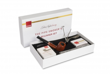 John Aylesbury The Pipe Smoker's Beginner Set mit gerader Pfeife, hellbraun
