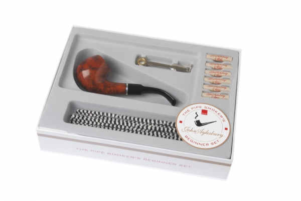 John Aylesbury The Pipe Smoker's Beginner Set mit gebogener Pfeife